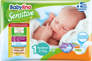 Πάνες Babylino Sensitive Carry Pack No1 (2-5Kg) 28τεμ
