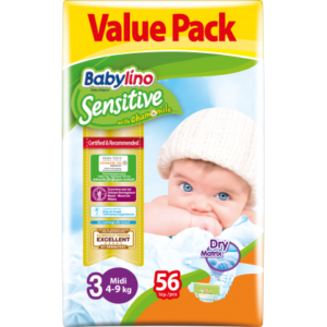 Πάνες Babylino Sensitive Value Pack No3 (4-9Kg) 56τεμ