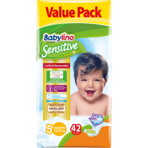 Πάνες Babylino Sensitive Value Pack No5+ (13-27Kg) 42τεμ