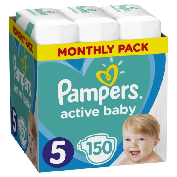 Πάνες Pampers Active Baby Νο 5 Monthly Box 150τμχ (11-16kg)