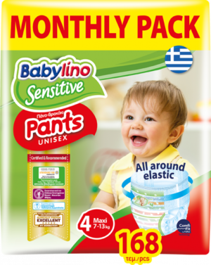 Babylino Pants Unisex Monthly Pack No4 Maxi 7-13kg (168τεμ)