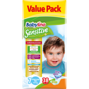 Πάνες Babylino Sensitive Value Pack No7 (17+Kg) 38τεμ